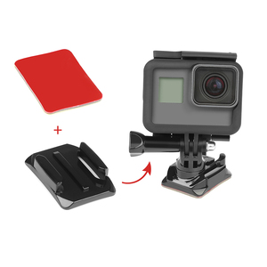 Image 5 - SHOOT Adhesive Sticker with Quick Pull Buckle Curved Surface Helmet Mount for GoPro Hero 8 9 5 7 Black Sjcam Xiaomi Yi 4k Camera