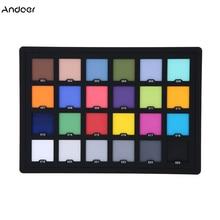 Placa de paleta para cartão, profissional 24 cores teste de cor balanço de cartão para correção de cor digital superior acessórios para fotografia