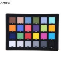Profesjonalna karta kolorów 24 testowa karta kolorów równoważenie karty paleta dla najwyższej jakości kolor cyfrowy korekta akcesoria fotograficzne