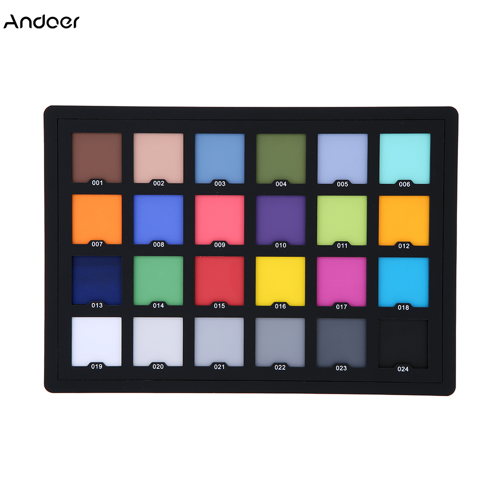 Professional 24 Color Card Test Color Balancing Card Palette Board for Superior Digital Color Correction Photography Accessories-in Photo Studio Accessories from Consumer Electronics