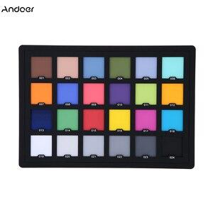 Image 1 - Tarjeta Profesional de 24 colores de prueba Tarjeta de equilibrio de Color tablero de paleta para corrección de Color Digital Superior accesorios de fotografía
