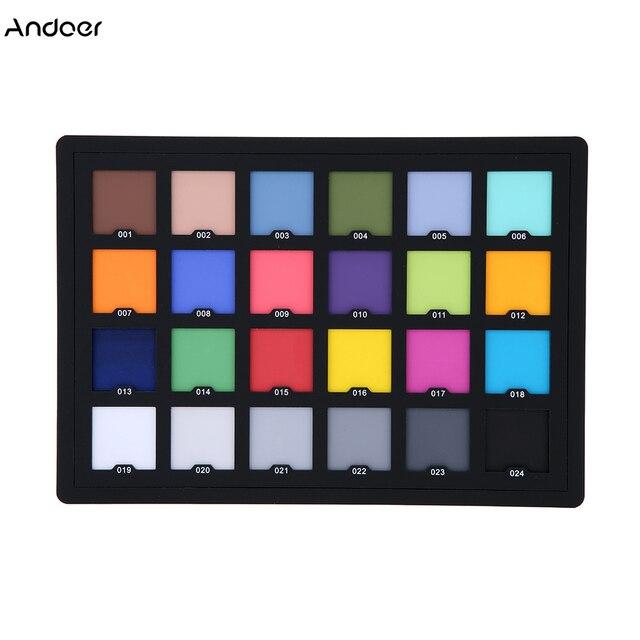 Tarjeta Profesional de 24 colores de prueba Tarjeta de equilibrio de Color tablero de paleta para corrección de Color Digital Superior accesorios de fotografía