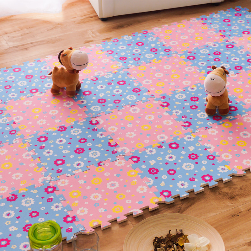 Krabbelnde Teppiche für Kinder, Babyspiel-Puzzlematten, Padboden für Babyspiele 30 * 30 * 1cm