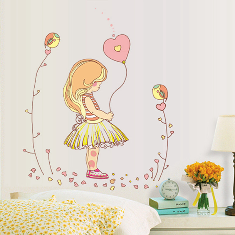 Zs Sticker Girl Wall Stickers Wall Stickers for Kids Room Kids Sticker Nursery Decor Home Decor