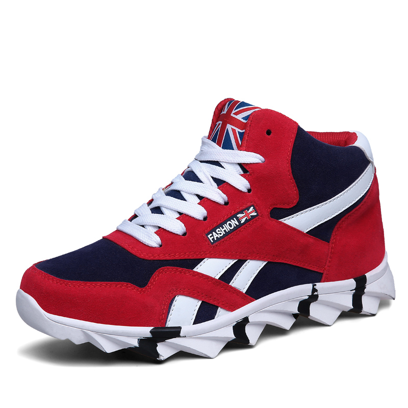 new high top fashion staly casual shoes for men comfortable 2018 autumn male sneakers adult Lightweight Breathable cotton shoes