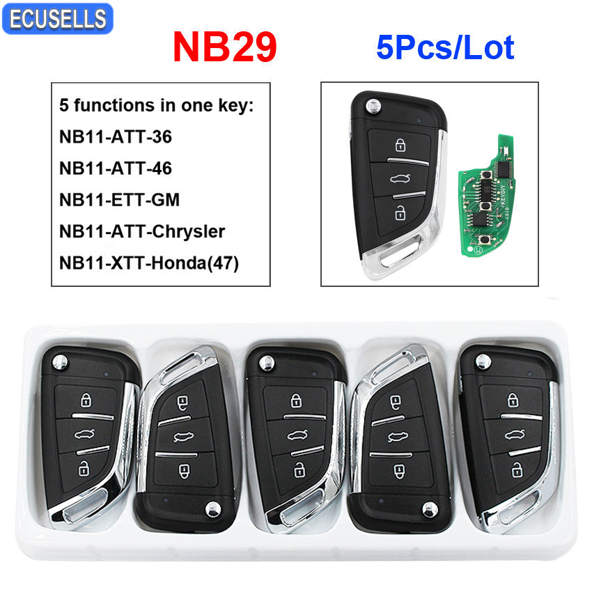 5 Pcs Lot NB29 Multi functional Universal Remote Control Car Key for KD900 KD900 URG200 KD