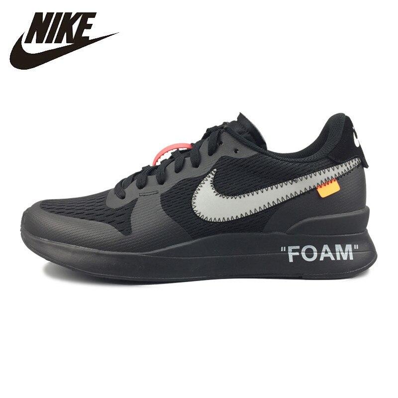 NIKE INTERNATIONALIST LT Men's Running Shoes Breathable Sneakers Shock Absorption Black / White AA2087