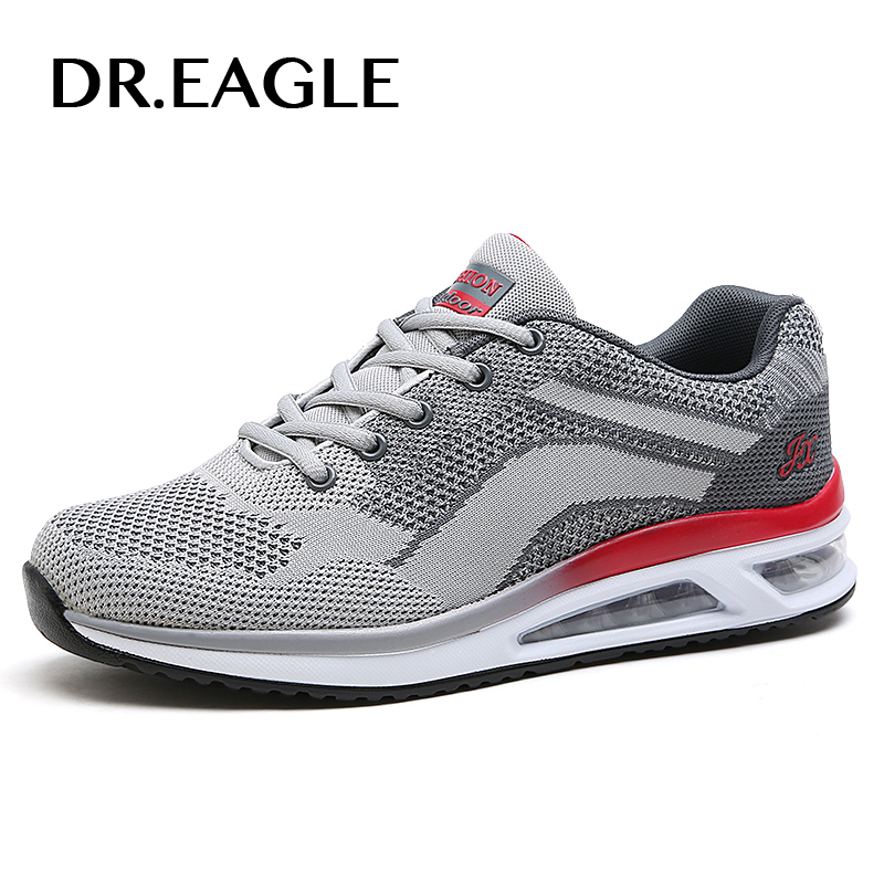 DR.EAGLE Men's Mesh Breathable running shoes for men sneakers cushioning mesh Comfortable mens krasovki male sports shoes