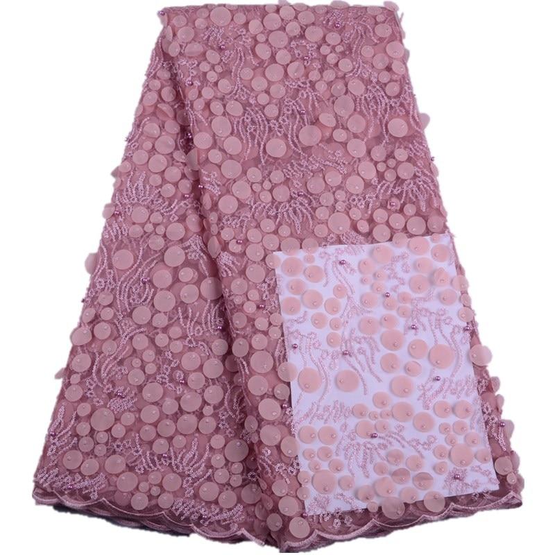 아프리카 레이스 패브릭 2019 고품질 레이스 3d 꽃 레이스 패브릭 아름 다운 applique 비즈 레이스 나이지리아 웨딩 드레스 1528-에서레이스부터 홈 & 가든 의  그룹 1