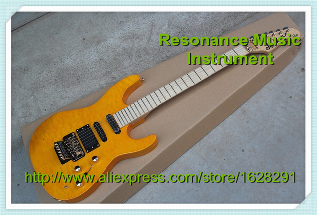Cheap Custom Shop Orange 6 String Jackson Electric Guitar China Guitar Body & Kits Left Handed Available