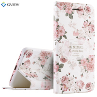 High Quality 3D Relief Print PU Leather Smart Flip Cover Case For IPhone 7 Plus Intelligent