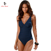 Ariel Sarah Brand 2017 Hot Sales One Piece Swimsuit Swimwear Women Plus Size Swimwear Solid Swimsuit