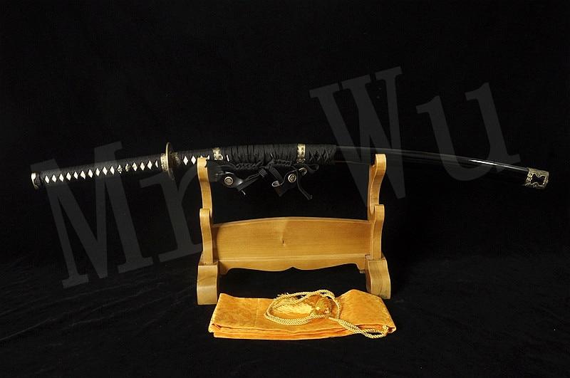Tachi ručně vyráběné katanské meče samurajské japonské meče skutečné katanské meče Japonský meč skládací Damašek ocel černá