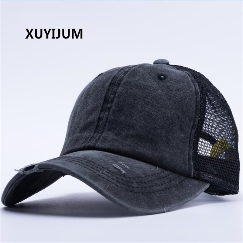 Xuyijun Summer Baseball Cap Mesh Cap Hats For Men Women Gorras Hombre hats Casual Hip Hop Caps Dad Casquette 2018 cc denim ponytail baseball cap snapback dad hat women summer mesh trucker hats messy bun sequin shine hip hop caps casual