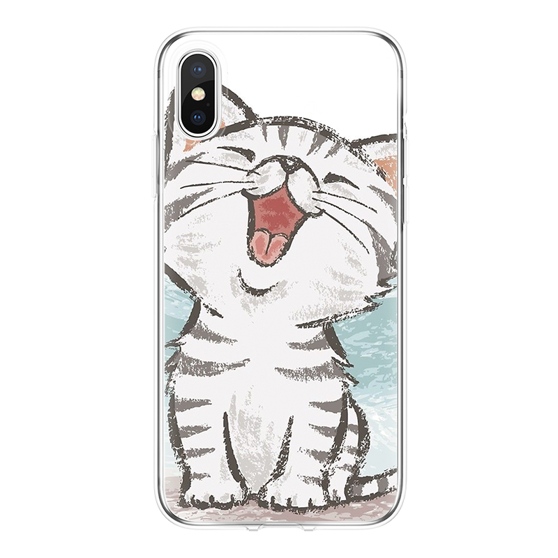 Прозрачная панда чехол для iPhone 6 s 6 S 5 5S 5c SE 7 8 Plus TPU Coque для Apple iPhone 4 4s 7 Plus X Fundas мягкий чехол с изображением котов