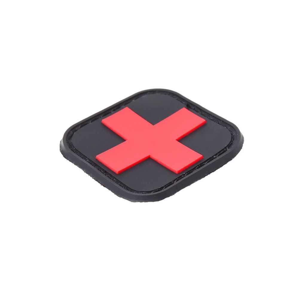 戦術腕章救急屋外狩猟医療関係者バッジ腕章赤十字マジックステッカー Pvc パッチ士気アクセサリー