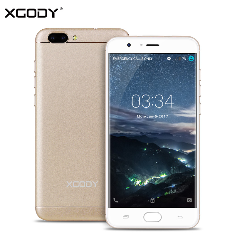 XGODY D18 4G LTE 5.5 Inch Smartphone Android 6.0 MTK MT6737 Quad Core 1G+16G 8.0MP+13.0MP Unlocked Dual Sim Telephone Cellphone