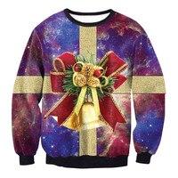 2017 NEW Fashion Men Women Tops Cool 3D Print Funny Christmas Gift Box Sweatshirt Enchantress Pullover