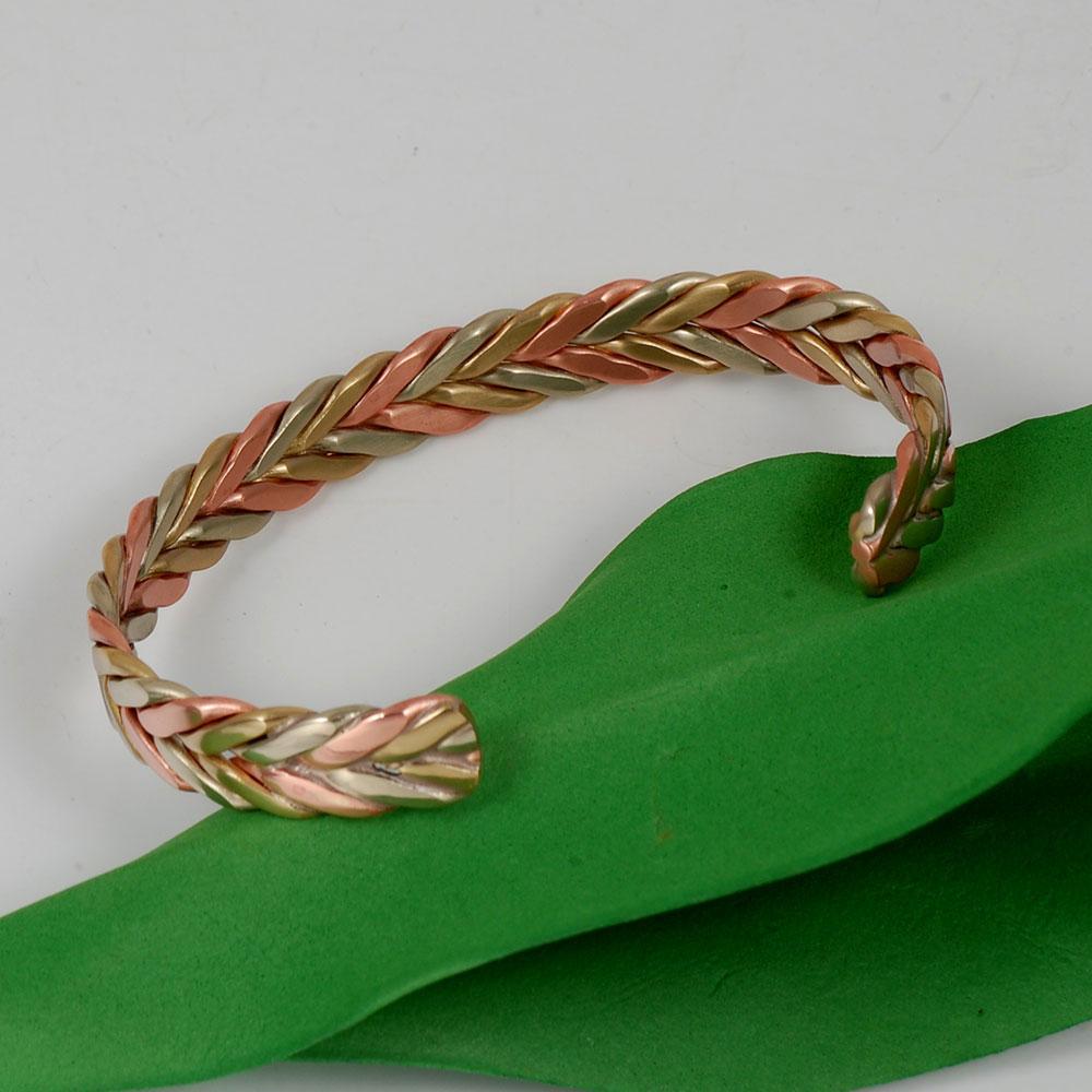 Wollet Schmuck Open Cuff Magnetic Copper Armreif für Frauen Rose - Modeschmuck - Foto 4