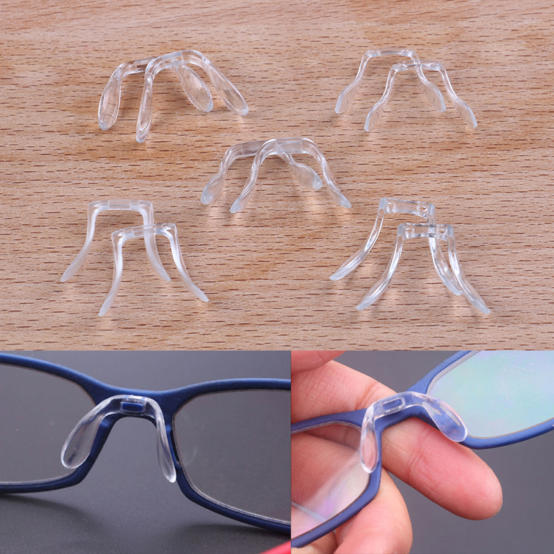 2 Pcs Silicone U Shape Anti-Slip Nose Pads Eye Glasses Multi Style Eyeglass Sunglasses Stick On Pad