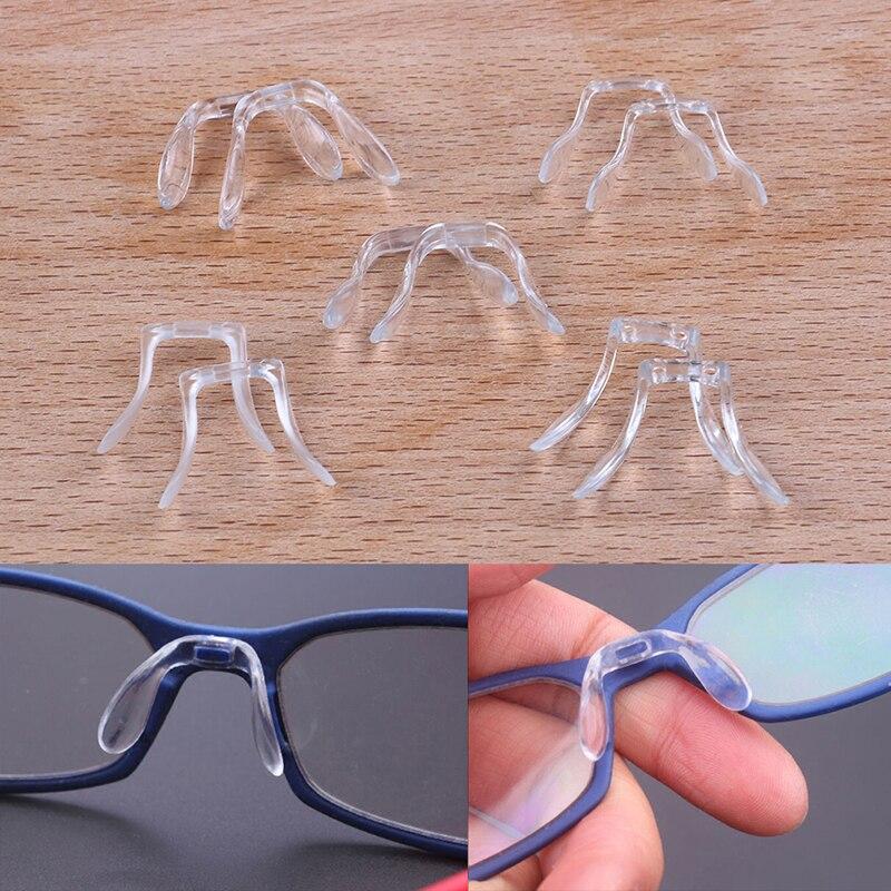 2 Pcs Silicone U Shape Anti-Slip Nose Pads Eye Glasses Multi Style Eyeglass Sunglasses Stick On Pad