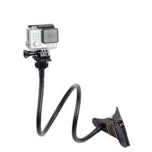 Cheaper Sj4000 Jaw Flex Clamp Arm Go Pro Gooseneck Mount Adjustable Clip Arm Neck Tripod For GoPro Hero 5 4 3 3+ Xiaomi Yi Accessories