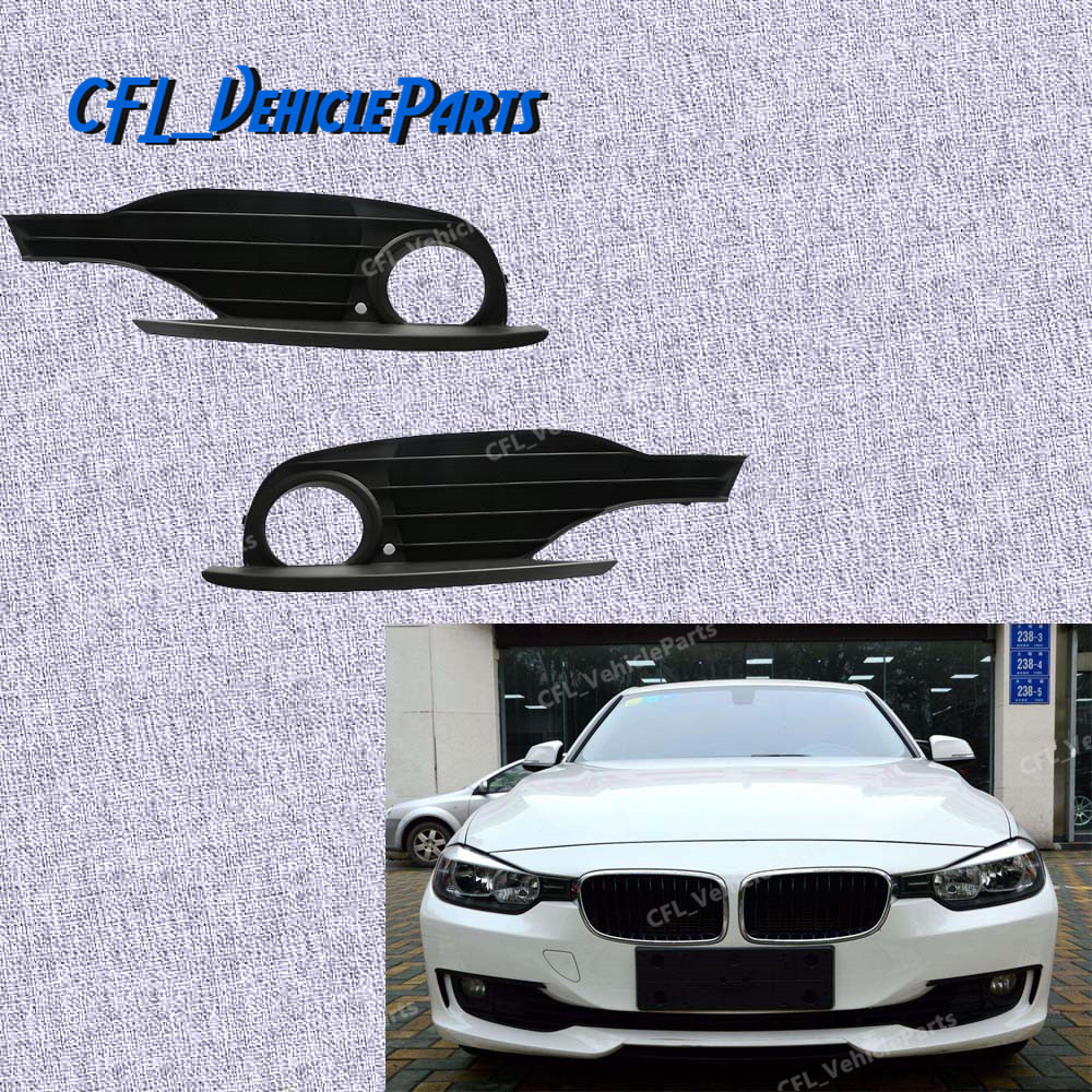 Pair Front Fog Light Cover Grille Trim L R 51117255370 51117255369 For BMW F30 F31 320i