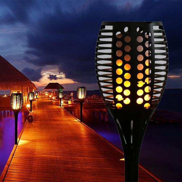 Solar Lampe 96 LEDs Flackernden Flammen Fackeln Led leuchten ...