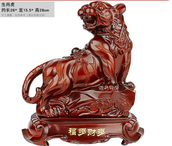 Résine rouge imitation séquoia cheval mouton singe poulet chien cochon artisanat déco Animal apporte artisanat sculpture décoration de la maison