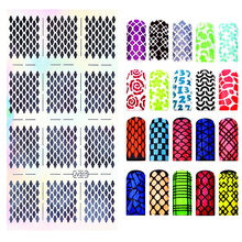 Hollow Sticker Pattern Transfer Nail Stickers Manicure Accessories Nail Art Decal French Stickers Tips Kit NJV стоимость