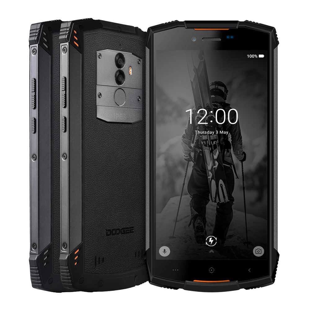 IP68 DOOGEE S55 กลางแจ้งกันน้ำสมาร์ทโฟน MTK6750T OCTA Core 4GB RAM 64GB ROM 5500mAh 5.5 นิ้ว Android 8.0 Dual SIM 13.0MP