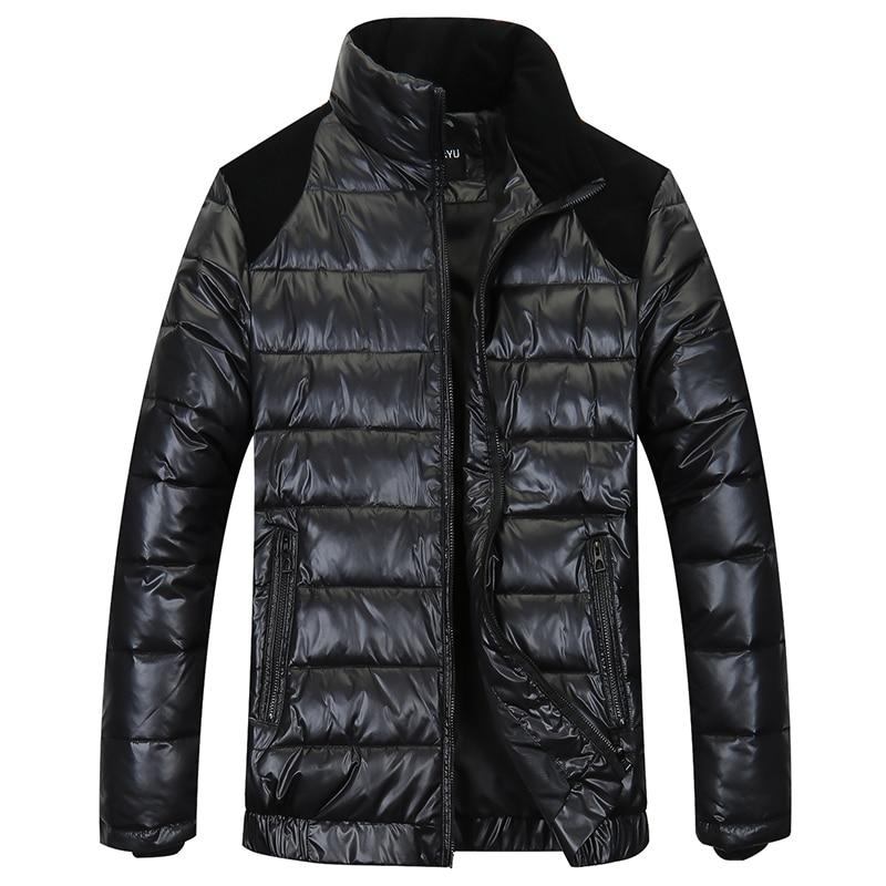 2018 New Arrival Obese Men's Fashionable Casual Down Jacket Black Warm Male Plus Size Xl-6xl 7xl 8xl 9xl 10xl 11xl 12xl 13xl Pure White And Translucent