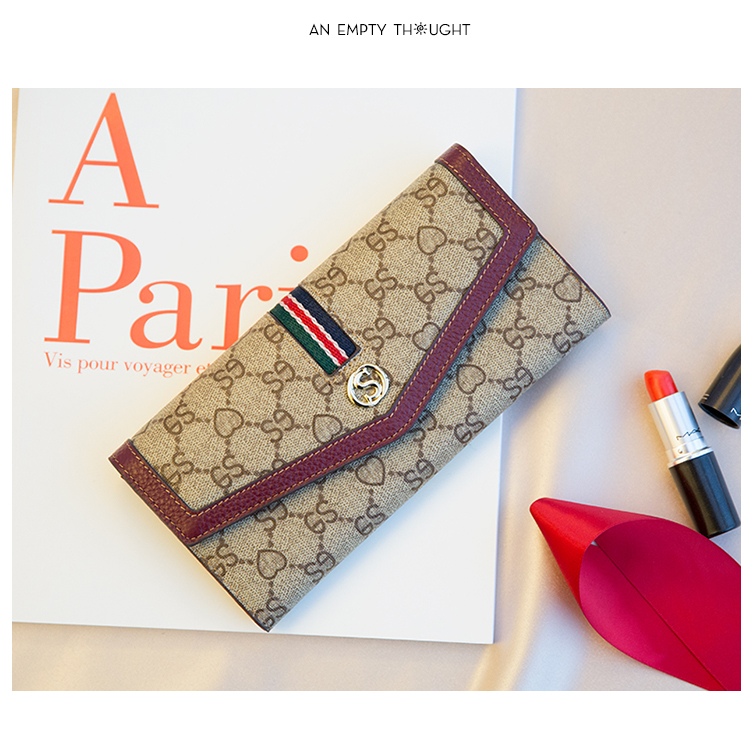 [Hely Coptar] 4Colors Pvc Print Patchwork Fashion Women Wallet 2018 New Long Envelope Female Purse Luxury Europe America Style худи print bar america