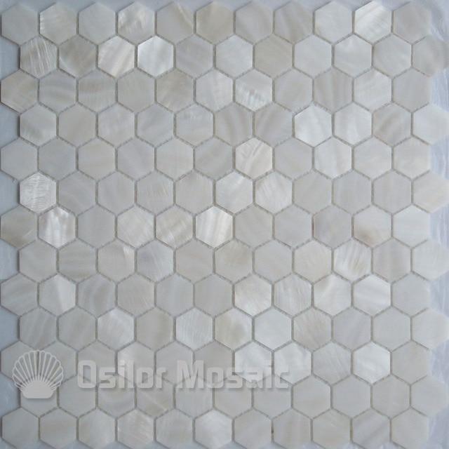 Freies Verschiffen Weiße Farbe 100% Natürliche Chinesische Süßwasser Shell  Perlmutt Mosaik Fliesen Für Badezimmer