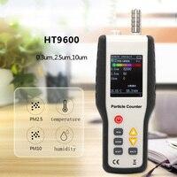 4 в 1 PM2.5 PM10 детектор газоанализатора Температура измеритель влажности частиц пыли лазерный термометр гигрометр PM2.5 воздуха монитор