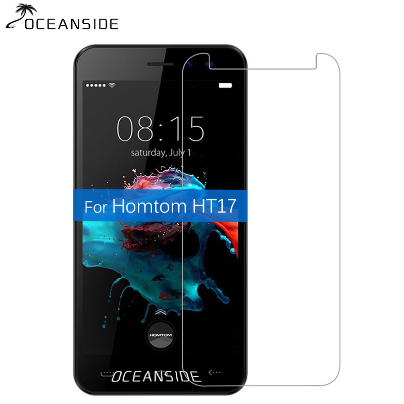 2Pcs For Homtom Ht17 Tempered Glass Screen Protector 2.5d Safety Cover Film On Ht 17 Pro HT17Pro pelicula de vidro(China)