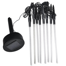 Solar Power Tube Lights Acrylic Garden Stick Stake Light Lamp Set