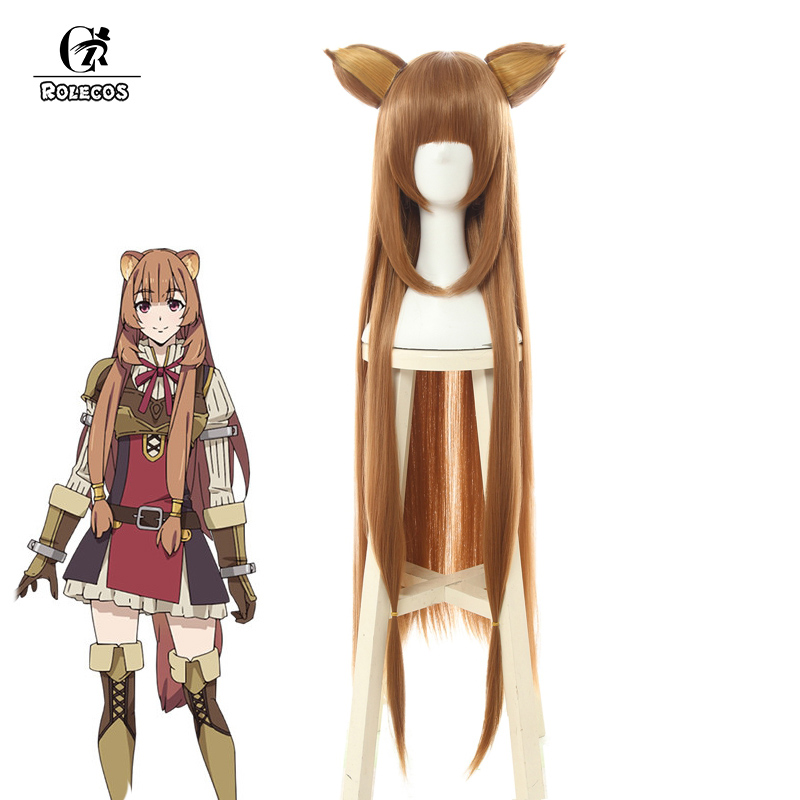 ROLECOS Raphtalia Cosplay Hair The Rising of the Shield Hero Cosplay Women Hair Anime Headwear Tate