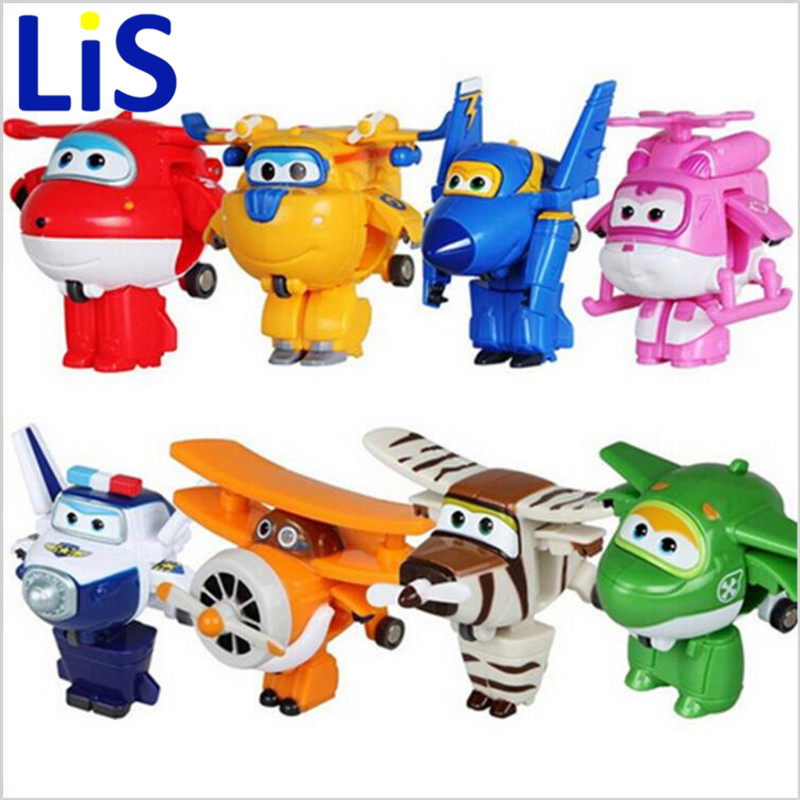 (Lis)8 styles Super Wings Mini Planes Deformation Airplane Robot Action Changeable Toys action toy Super Wings 8pcs set auldey super wings mini airplane abs robot toys action figures super wing transformation jet cartoon children kids gift