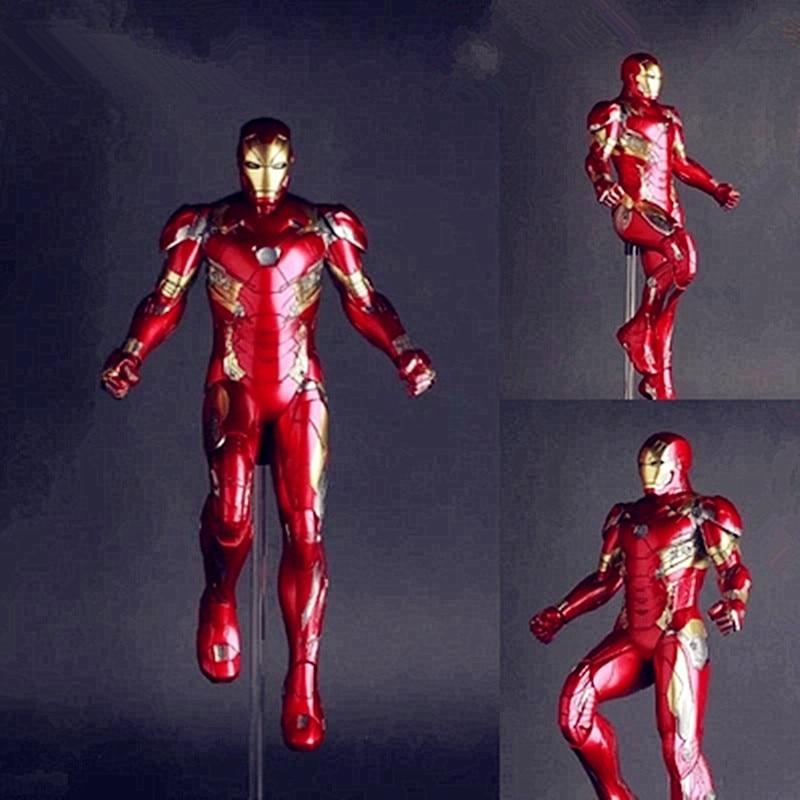 Crazy Toys The Avengers Tony Stark Iron Man MARK XLVI MK 46 1/6 Scale PVC Figure Collectible Model Toy G100 a toy a dream the avengers 2 figures toys iron man motorcycle helmet mask tony stark mark cosplay with led light action figure