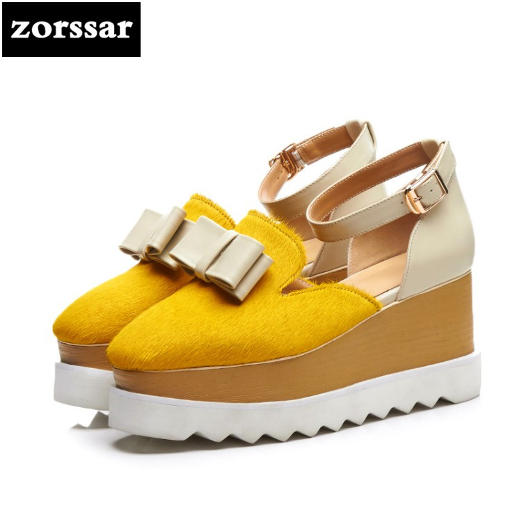 {Zorssar} 2018 Summer New fashion horsehair womens Creepers shoes heels Wedges High heels pumps women Platform shoes zorssar brand 2018 new womens creepers shoes heels casual wedges high heels pumps shoes fashion suede women platform shoes