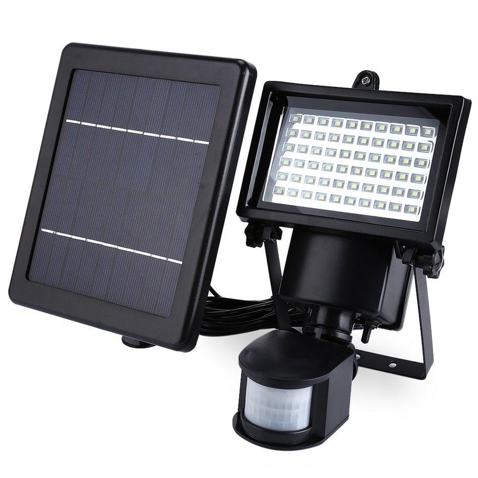 Led solar lamp waterproof solar light pir 60 leds pir - Lamparas solares de led ...