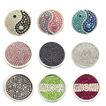 1pcs sale 33MM Full Crystal Multi Colors My Disc Deluxe Coin fit Sparking 35mm Coin Holder Frame Pendant