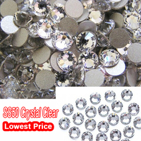 Super Deal Shiny Clear White Crystal Strass Rhinestones 144PCS SS50 Non Hotfix 3D Nail Art Decorations