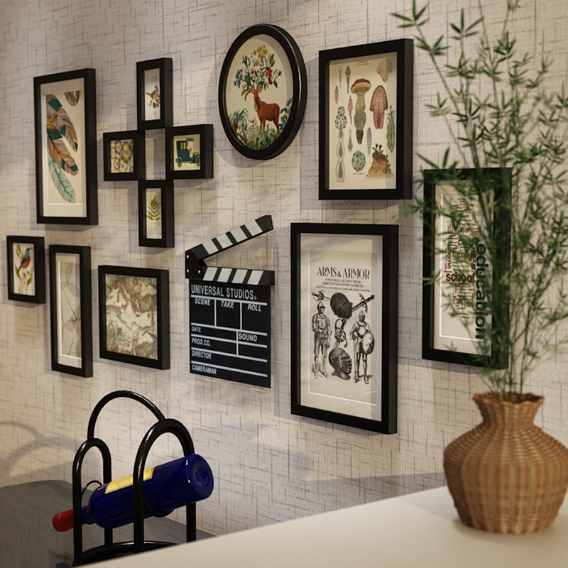 Us 94 35 25 Off 13 Piece Photo Frames With Pictures Core Wood Art Craft Photo Frame Home Wall Hanging Decoration Wooden Picture Frames Artware In