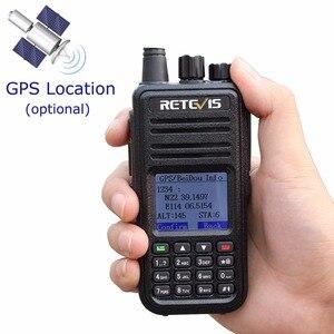 Image 2 - Retevis rt3 dmr rádio digital (gps) walkie talkie uhf (ou vhf) ham rádio amador handheld transceptor mesmo com tyt md 380 MD 380