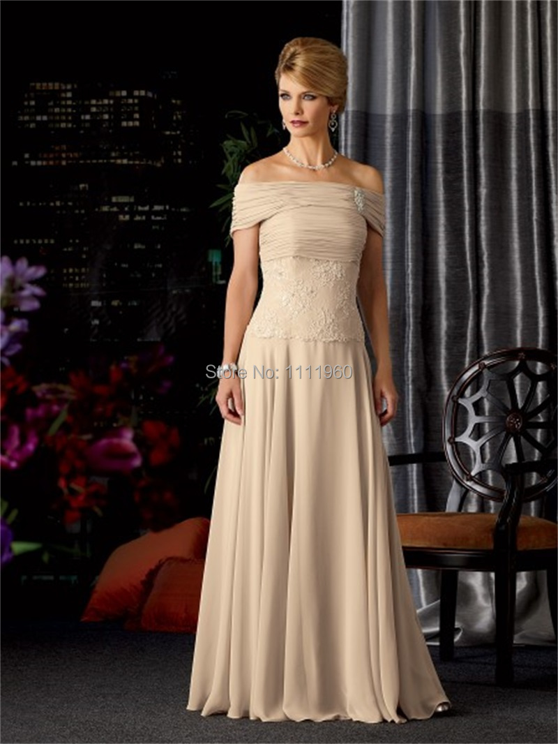 b4ad9b9a7ed Formal Mother Of The Bride Gowns With Sexy V Neck Spaghetti Straps Chiffon  Floor Length Flowers Mother Dress Free Shipping MC247