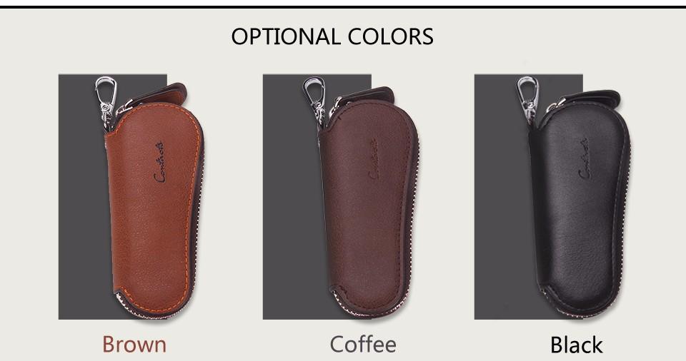 محفظة مفاتيح للرجال من الجلد الطبيعي 4