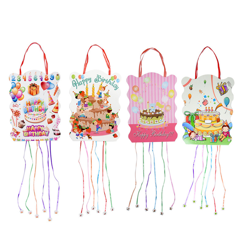 Cute Cartoon Pinata Paper Folding Party Toy Game Bingo Boy Kid Birthday Festival Decoration Favor For Kids Toys