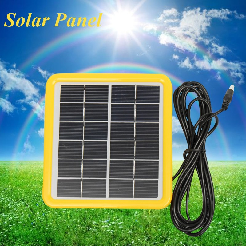 6V 2W DC plug Solar Panel 333MA Polycrystalline Cells Plastic Frame+Laminated Mini Solar Panel Module Cell